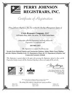Crisis Response Company, LLC Final Certificate(1)